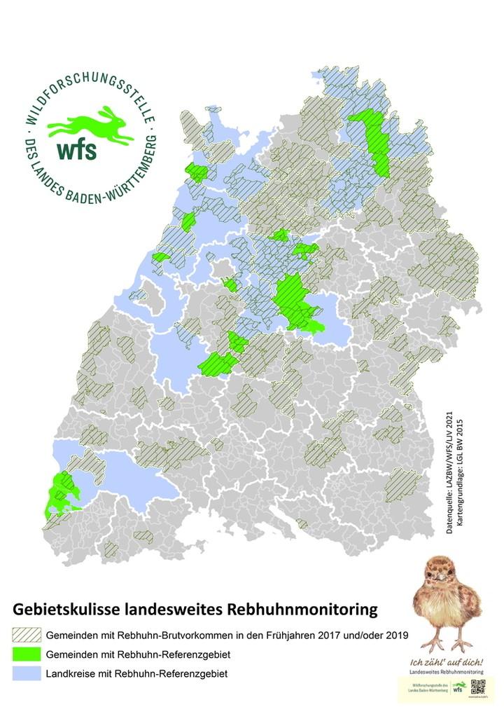 Rebhuhnmonitoring, Rebhuhnforschung, Wildforschungsstelle, WFS