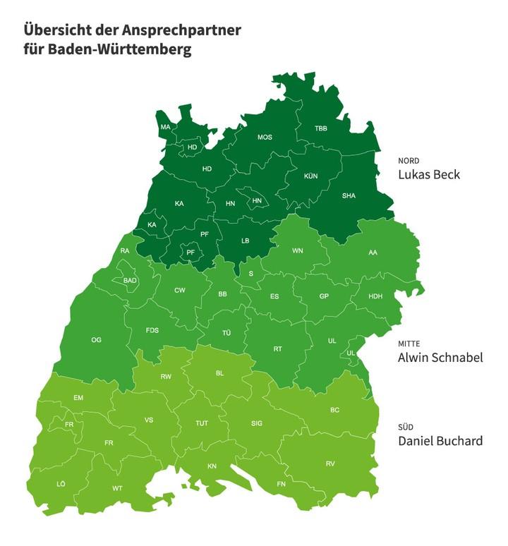 Karte von Baden Wuerttemberg